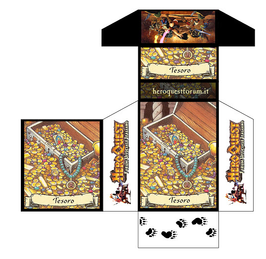 MiniBox Carte Heroquest - Tesoro